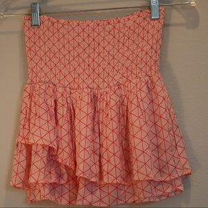 NWOT Pink mini skirt.